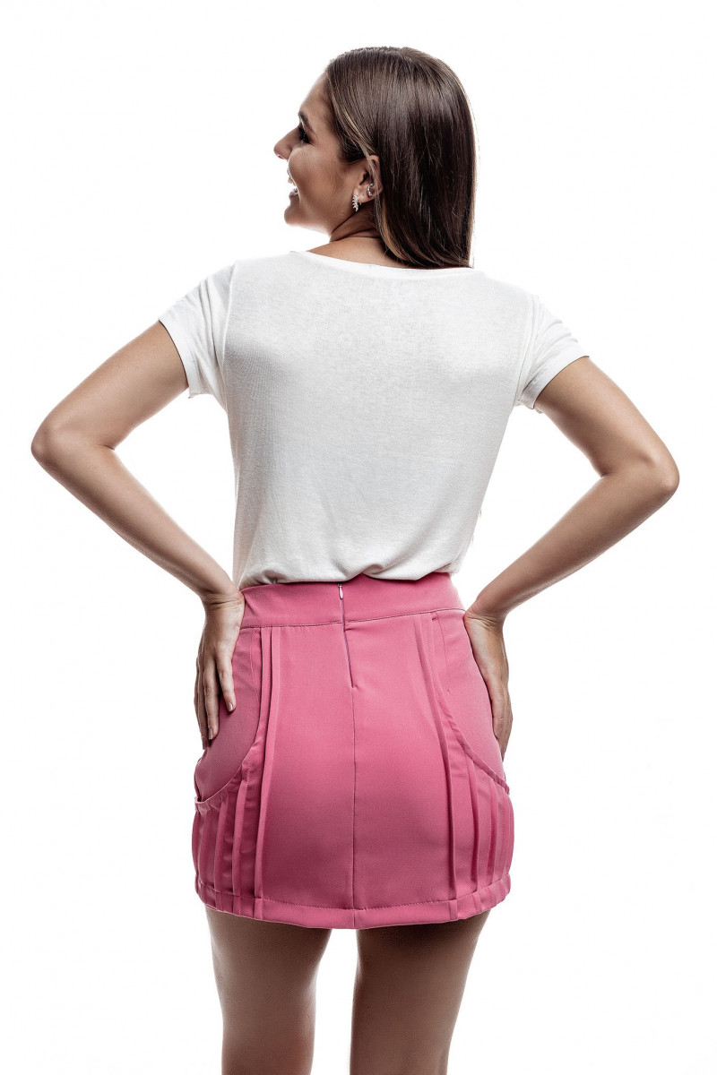 Tshirt trancinha ombro