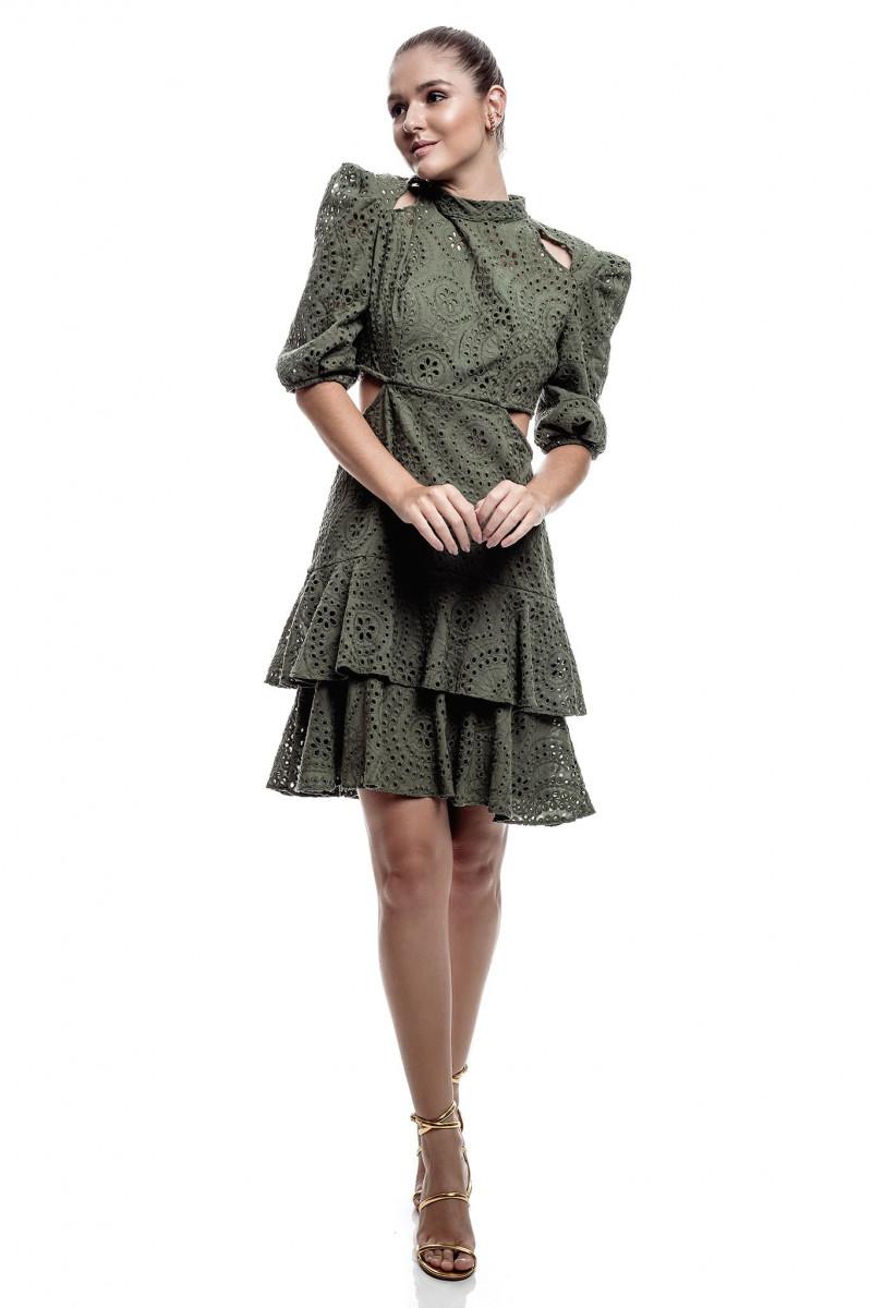 Vestido Laise verde oliva